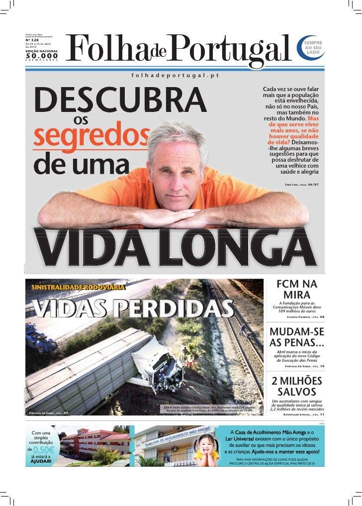Diretor: João Filipe                          Jornal de distribuição gratuita                          Nº 328             ...