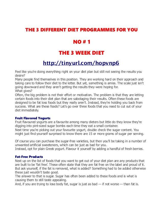 Diet routine to lose weight