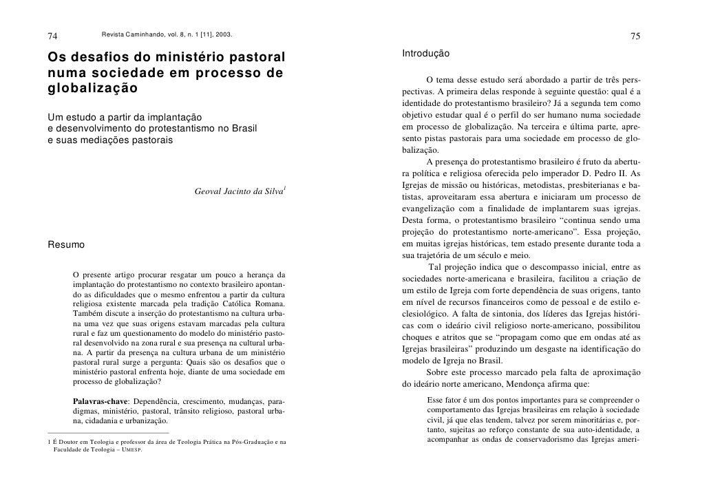 74                Revista Caminhando, vol. 8, n. 1 [11], 2003.                                                            ...