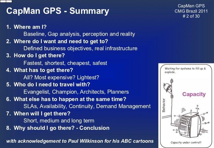 Adam Grummitt - Capacity Management: Guided Practitioner Satnav Slide 2