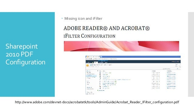 Ifilter Pdf Sharepoint 2010