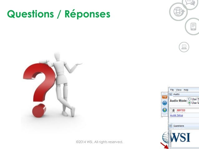 Questions / Réponses ©2014 WSI. All rights reserved.