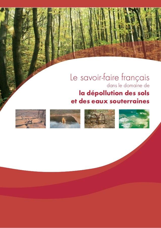 Le savoir-faire français dans le domaine de  la dépollution des sols et des eaux souterraines