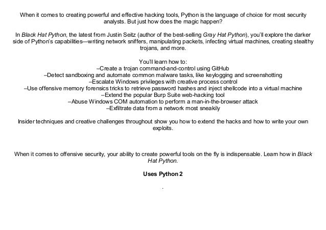 Writing Exploits In Python