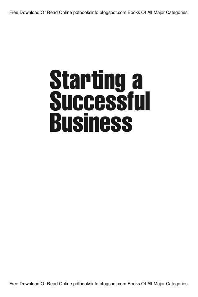 Starting a Successful Business, Sixth Edition