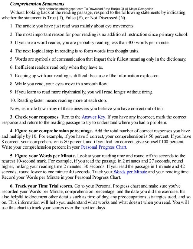 free ing of comprehension passages for o levels zip