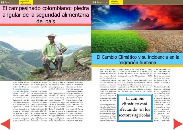 18 INTERFACE seguridad  Alimentaria 19 INTERFACE  cambio  climatico  El campesinado colombiano: piedra  angular de la segu...