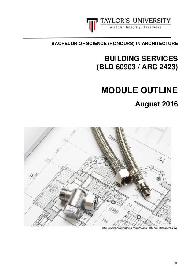 sem 4   building services module outline