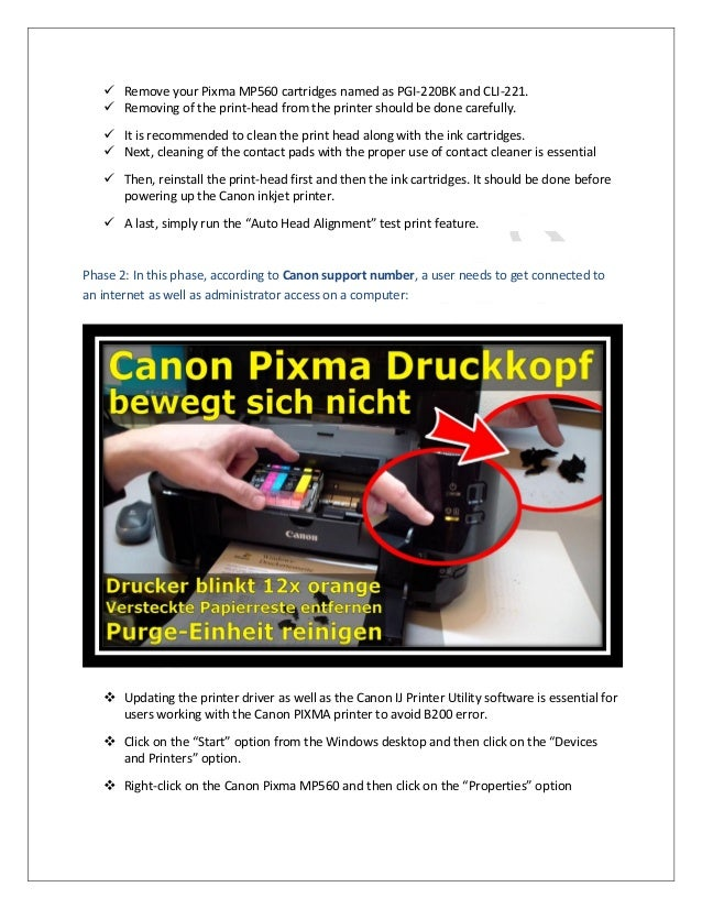 Canon printer user guide for windows users canon pixma mg5750 array 1 8002046959 steps to fix error b200 for canon pixma mp560 rh slideshare net fandeluxe Choice Image