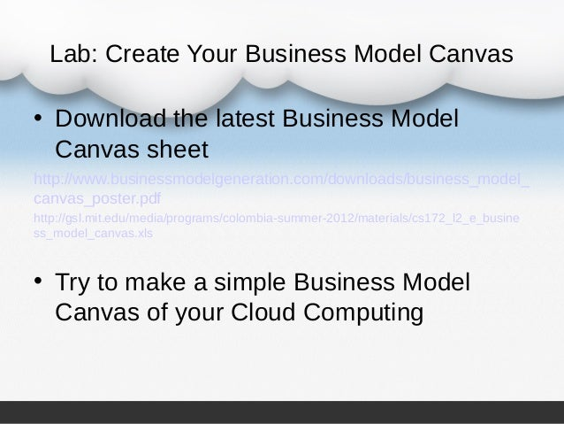 Cloud computing business plan pdf