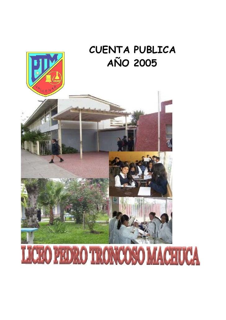 CUENTA PUBLICA   AÑO 2005