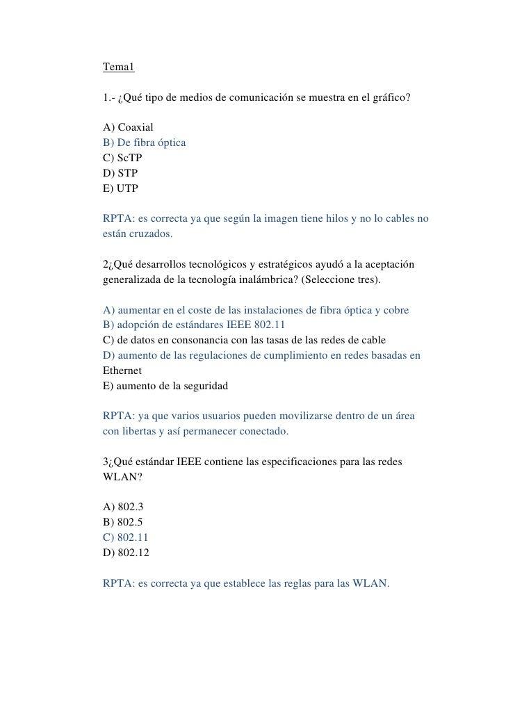 Tema11.- ¿Qué tipo de medios de comunicación se muestra en el gráfico?A) CoaxialB) De fibra ópticaC) ScTPD) STPE) UTPRPTA:...