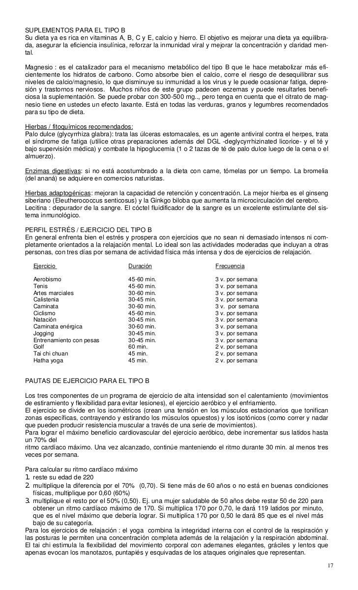Pdf D Adamo Peter J Grupos Sanguineos Y Alimentacion Colesterol Hepat