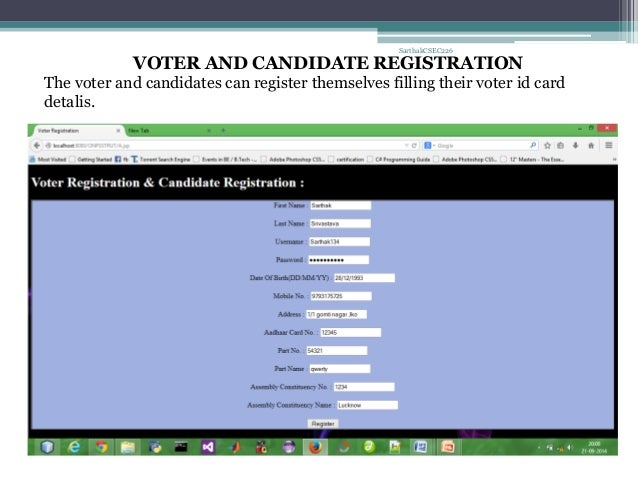 Online Voting System Using Advanced Java