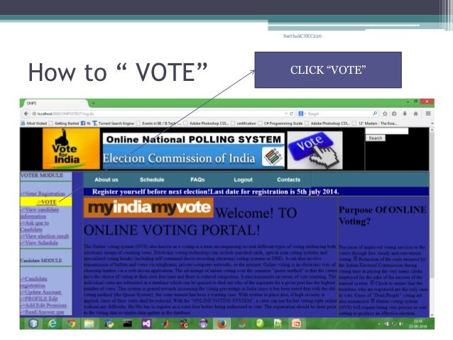 Online Voting System-using Advanced Java