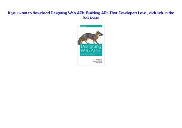Designing Web APIs Building APIs That Developers Love