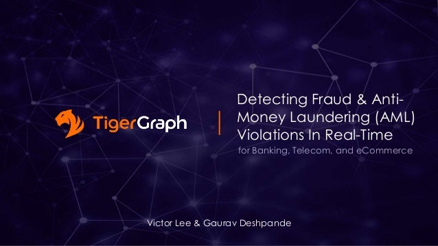 Detecting Fraud & Anti- Money Laundering (AML) Violations In Real-Time Victor Lee & Gaurav Deshpande for Banking, Telecom,...