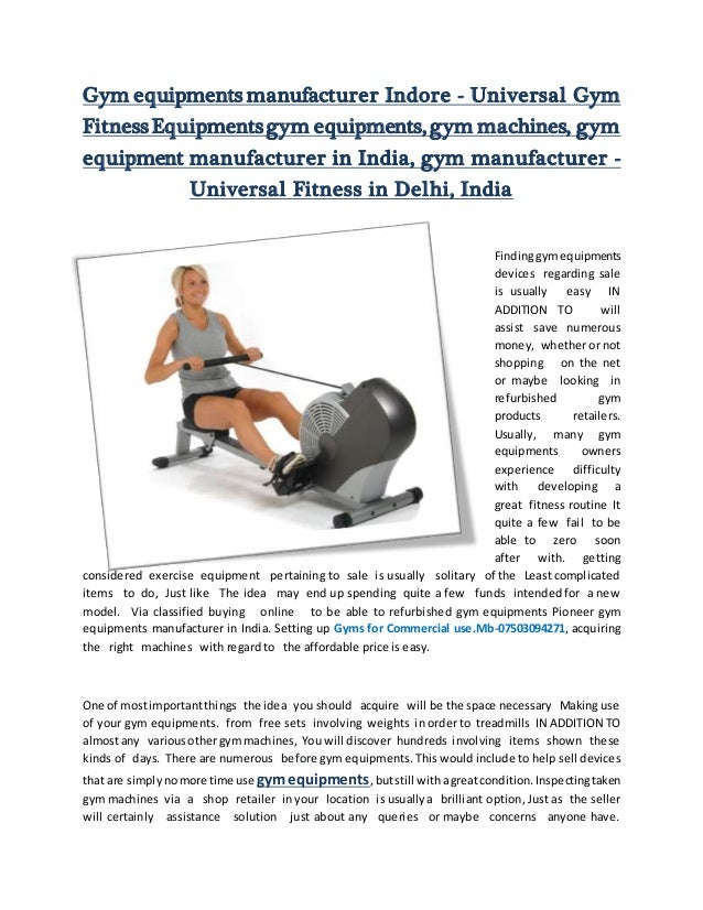 gym equipment manufacturer universal fitness in delhi india