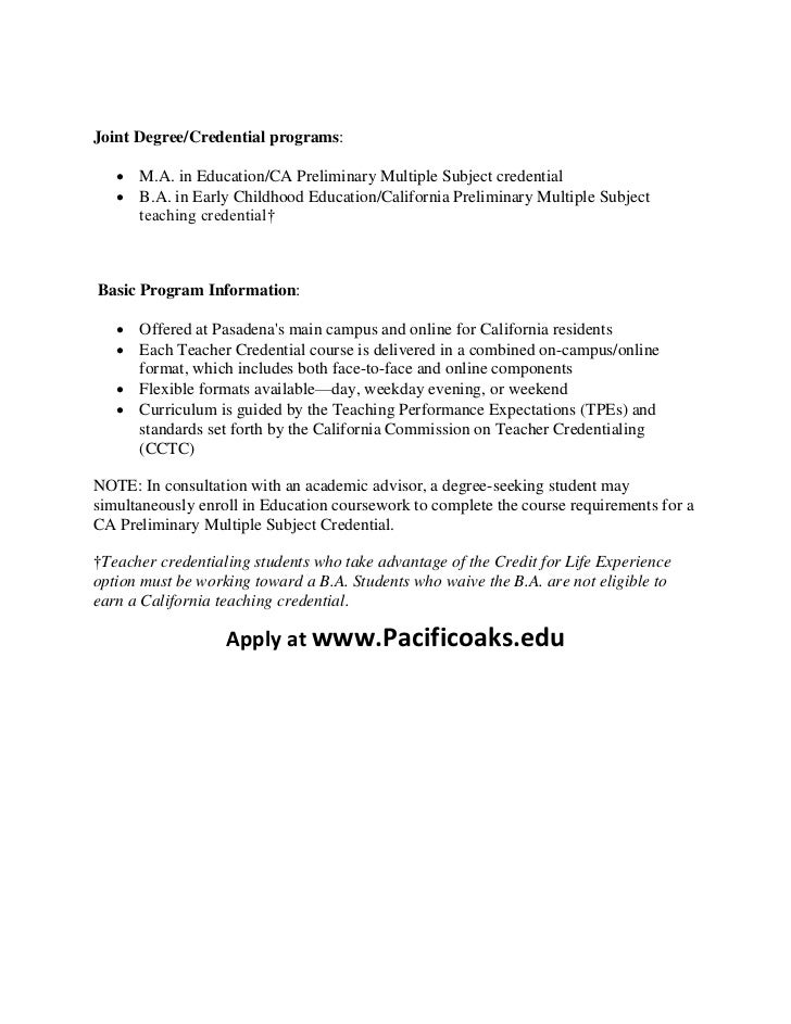 teacher education credentialing programs california