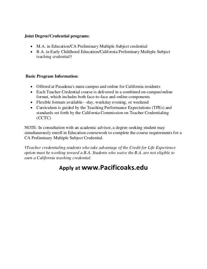 teacher education credentialing programs california