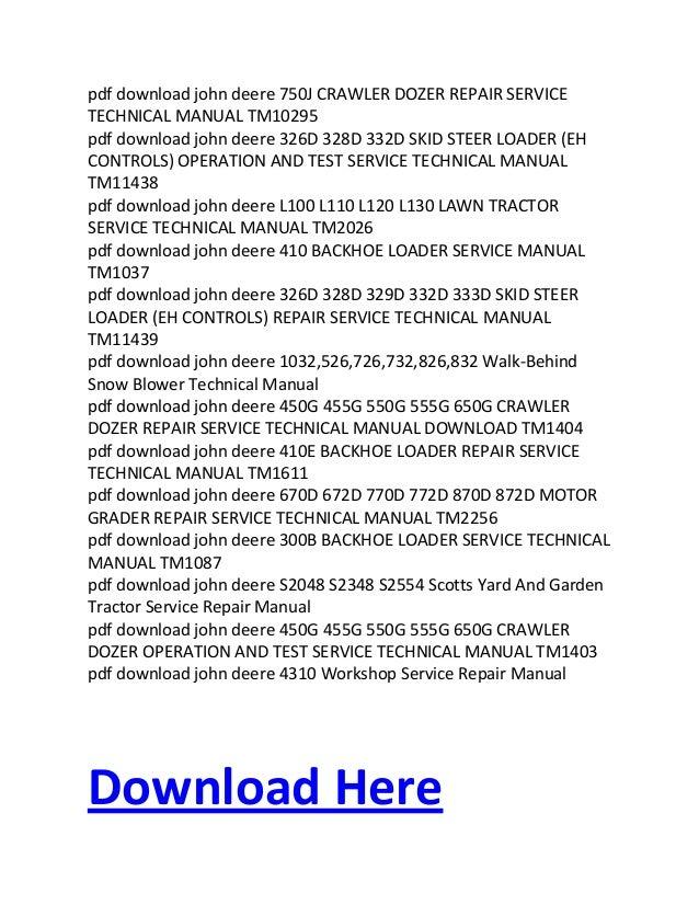 pdf download john deere technical repair service workshop manual inst rh slideshare net john deere 4220 service manual john deere 4200 service manual
