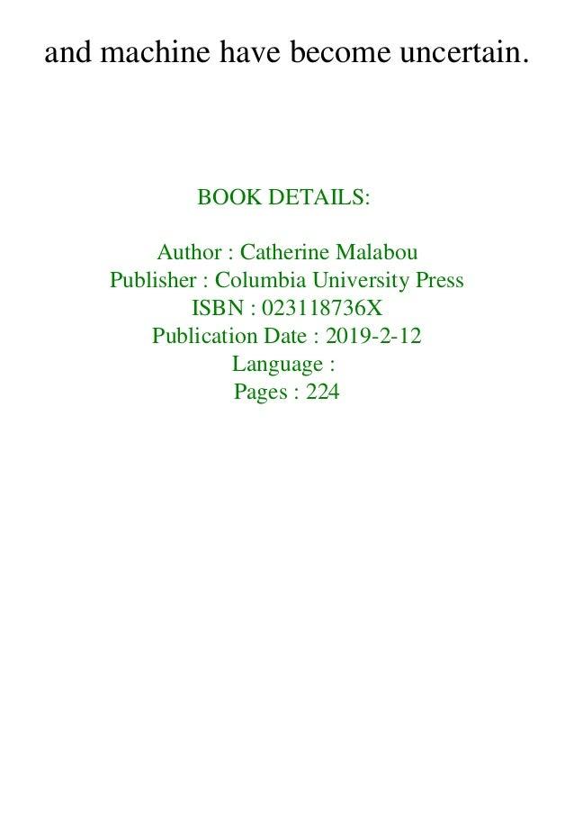 Catherine Malabou Pdf