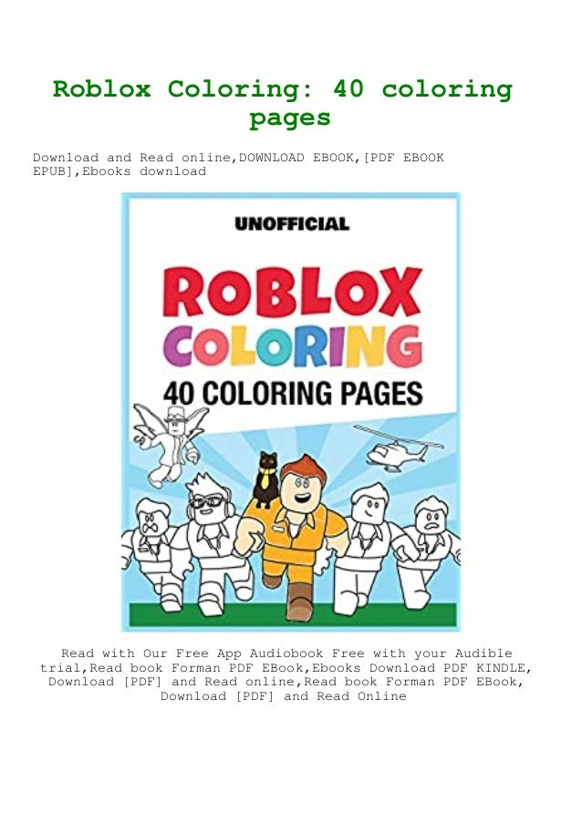 PDF [Download] Roblox Coloring 40 Coloring Pages EBook