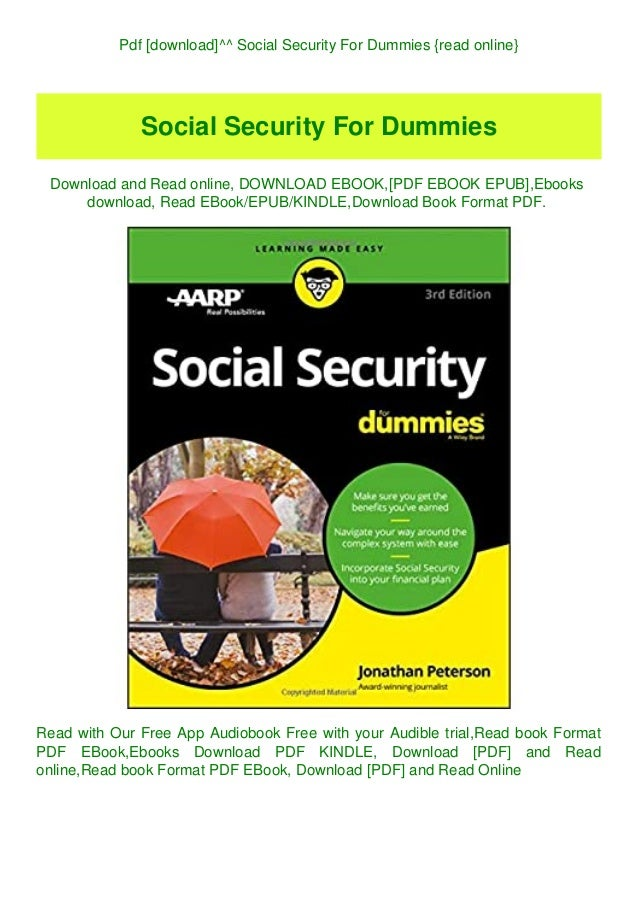 Social security for dummies pdf free download 64 bit