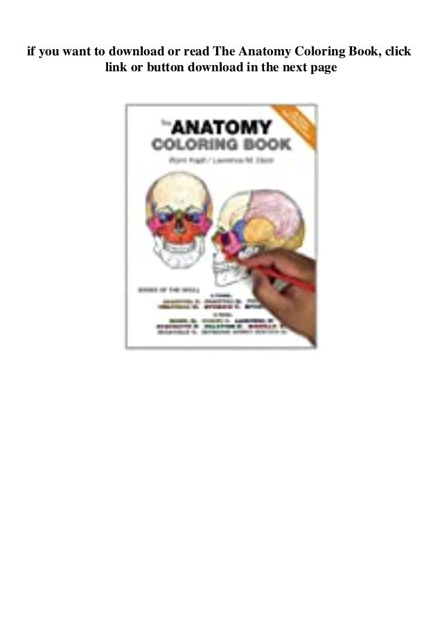 Pdf [download]^^ The Anatomy Coloring Book PDF EBook