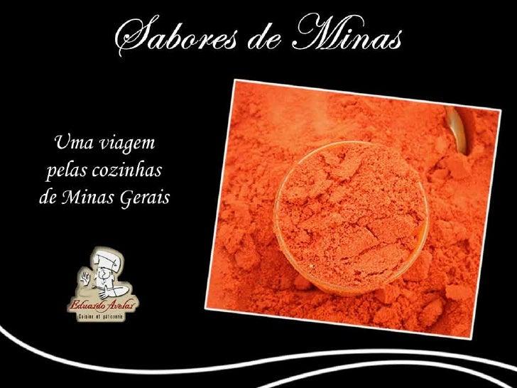 Apresentação Sabores de Minas