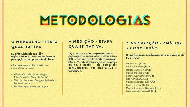 O MERGULHO -Etapa qualitativa. 80 entrevistas de rua (SP) exploratórias sobre o entendimento, percepção e compreensão do t...