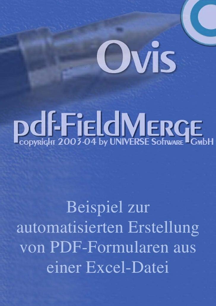Beispiel zur automatisierten Erstellung von PDF-Formularen aus     einer Excel-Datei