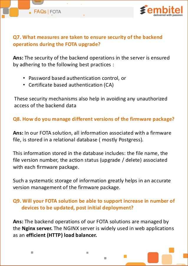 Frequently Asked Questions (FAQs) on FOTA by Embitel
