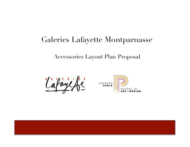 Galeries Lafayette Montparnasse   Accessories Layout Plan Proposal