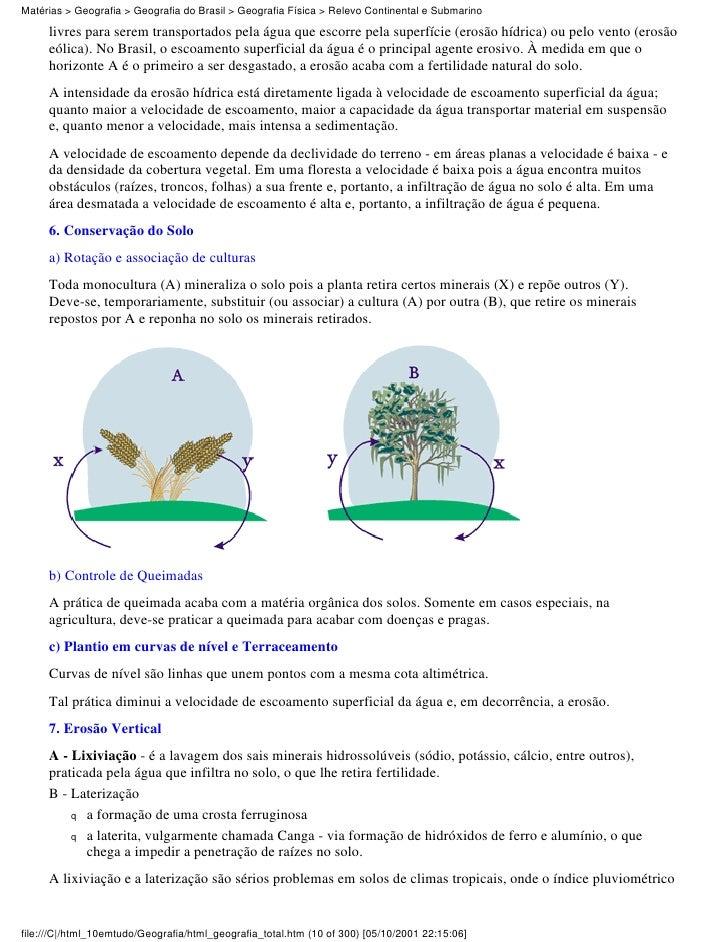 Matérias > Geografia > Geografia do Brasil > Geografia Física > Relevo Continental e Submarino     livres para serem trans...