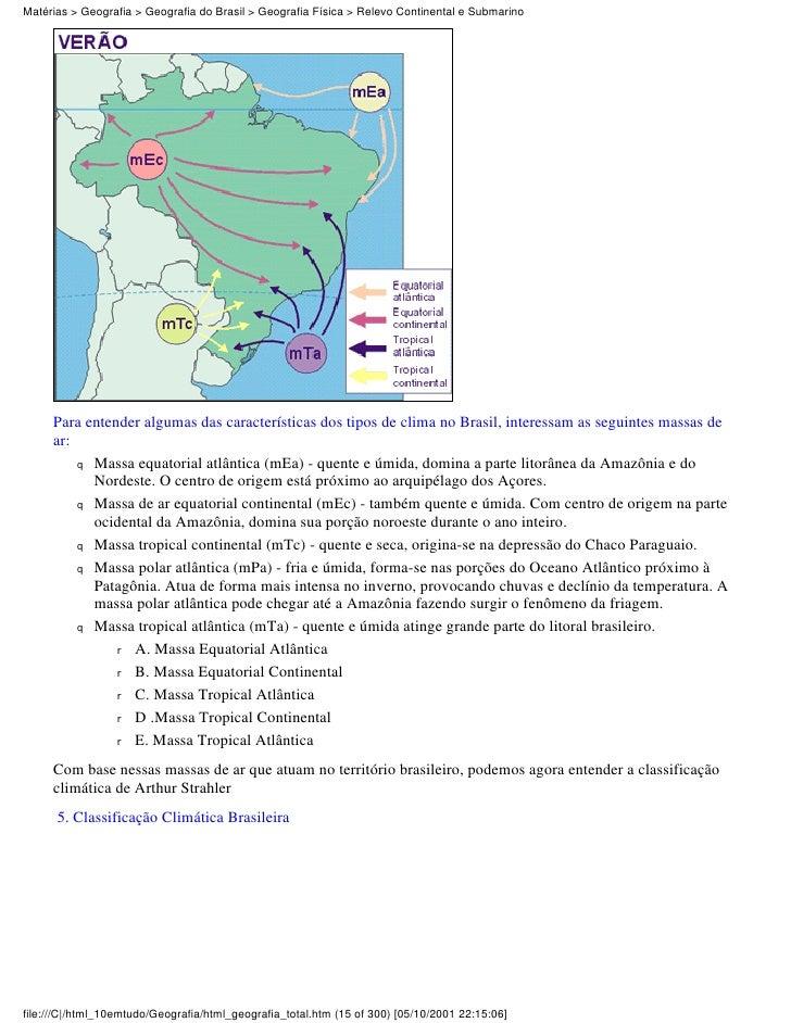 Matérias > Geografia > Geografia do Brasil > Geografia Física > Relevo Continental e Submarino     Para entender algumas d...