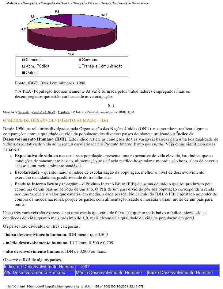 Matérias > Geografia > Geografia do Brasil > Geografia Física > Relevo Continental e Submarino         Fonte: IBGE, Brasil...