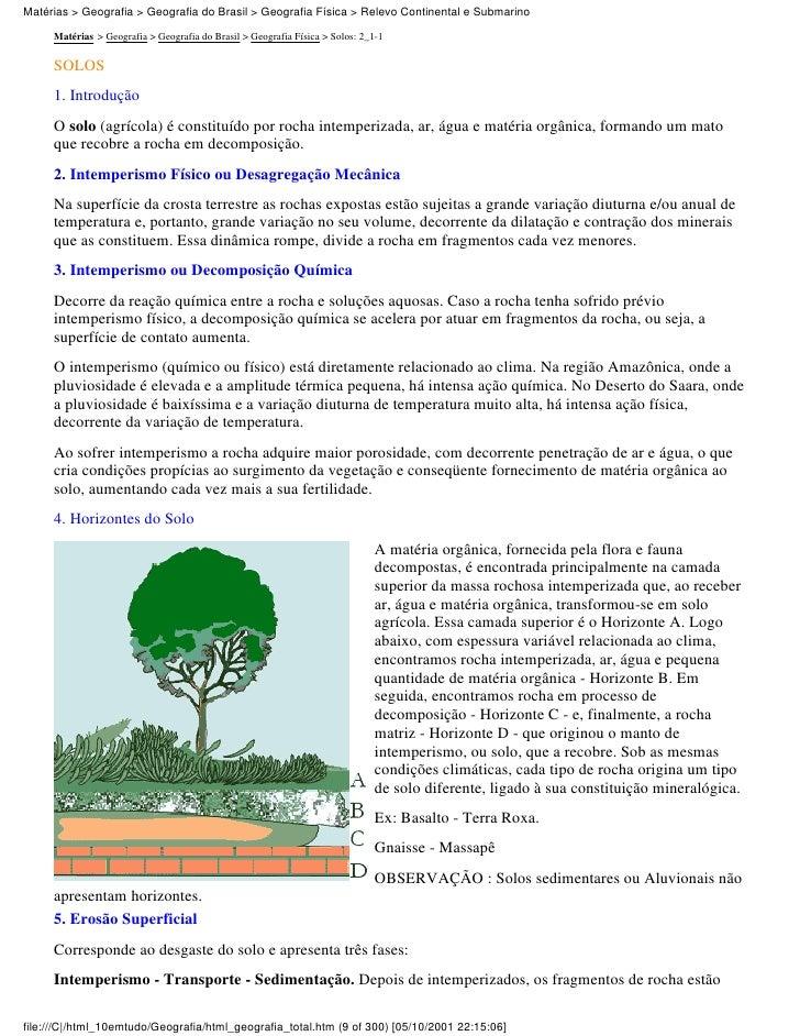 Matérias > Geografia > Geografia do Brasil > Geografia Física > Relevo Continental e Submarino     Matérias > Geografia > ...