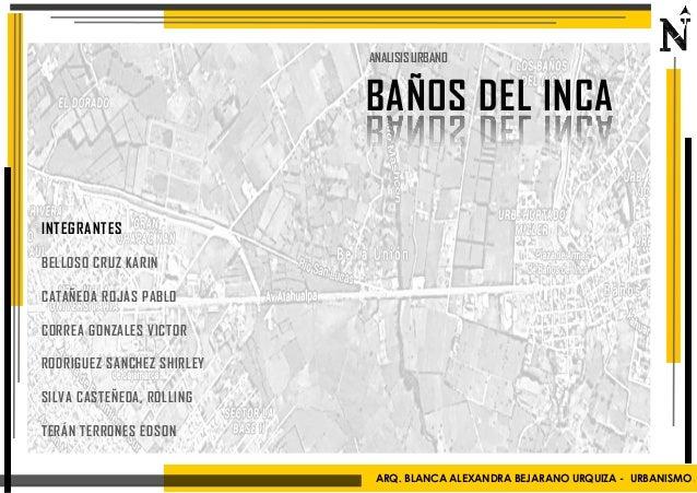 Banos Del.Urbanismo Banos Del Inca