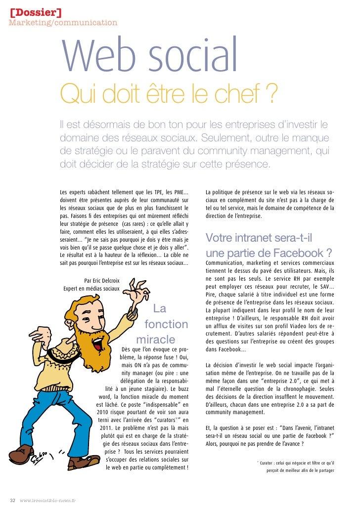 [Dossier] Marketing/communication                         Web social                     Qui doit être le chef ?          ...