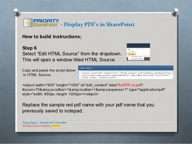 Website pdfs script to from