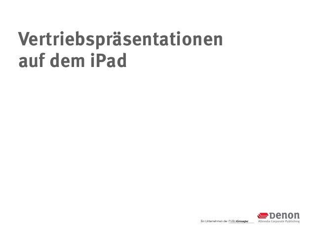 Vertriebspräsentationenauf dem iPad