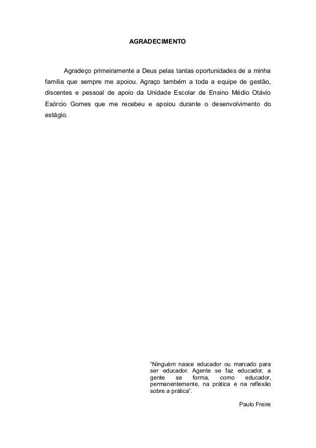 Relatório supervisionado do do ensino fundamental pesquisa do contexto escolar e observação 5