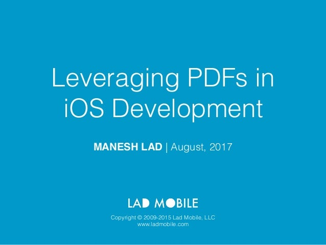 Leveraging PDF's in iOS Development