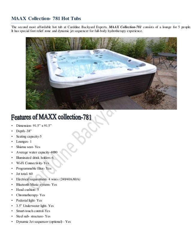 Maax Collection 781 Hot Tub