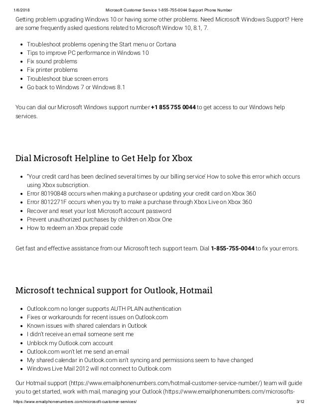 Pdf microsoft customer service 1 855-755-0044 support phone