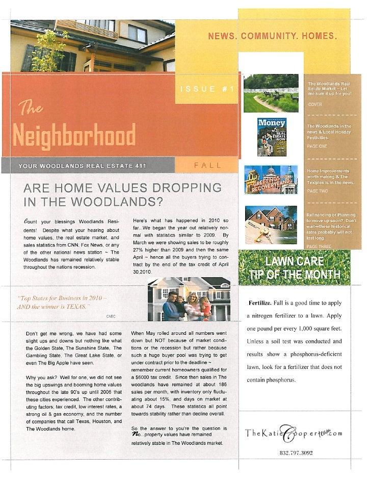 Woodlands Real Estate Newsletter 12