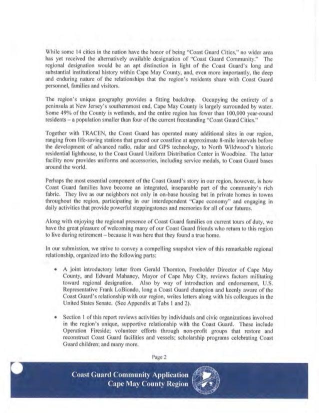 Final Coast Guard Community Application
