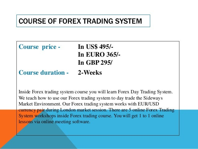 Learning forex trading