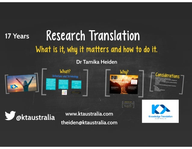 wvears Research Translation what is it whq it mafiers and how to do it  Dr Tamika Heiden whaf?     Dcflnitionx and Terminolo...